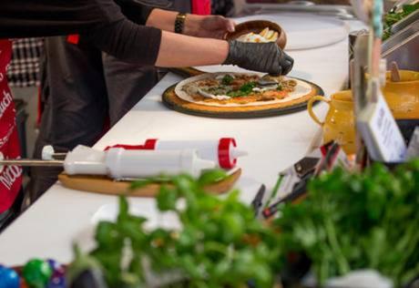 Zubereitung des Anatolien Wraps